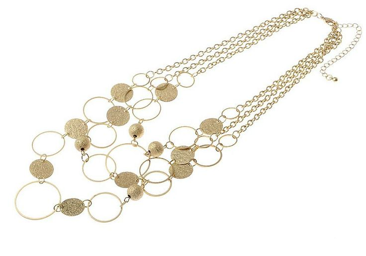 AlibiOnline - CNM445 - Necklace With Multi Row Circle Pattern by MAJIQUE, $39.99 (http://www.alibionline.com.au/cnm445-necklace-with-multi-row-circle-pattern-by-majique/)