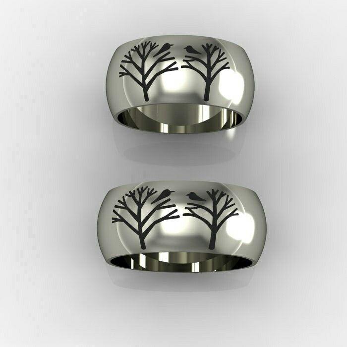 Обручальные кольца из белого золота на заказ.