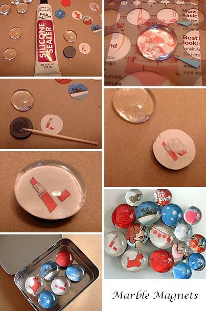 diy marble magnets