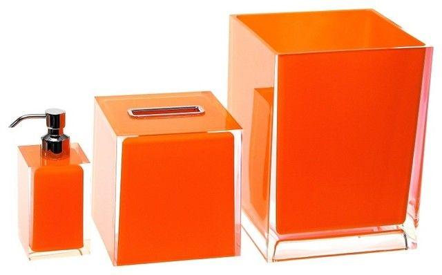 bathroom accessories set orange