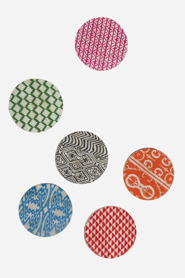 Bone Coasters - Multi Colour