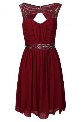 Burgandy Sweetheart Embellished Prom Dress  £56.00  Available on www.little-mistress.co.uk