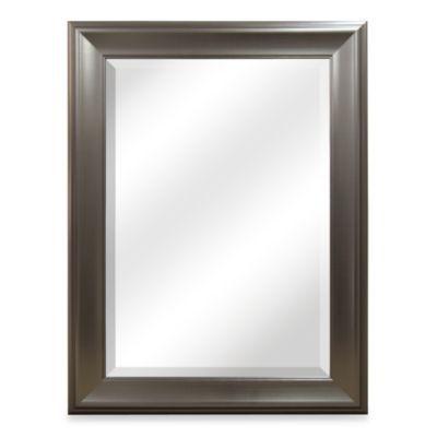 Bryce Brushed Nickel Mirror - BedBathandBeyond.com
