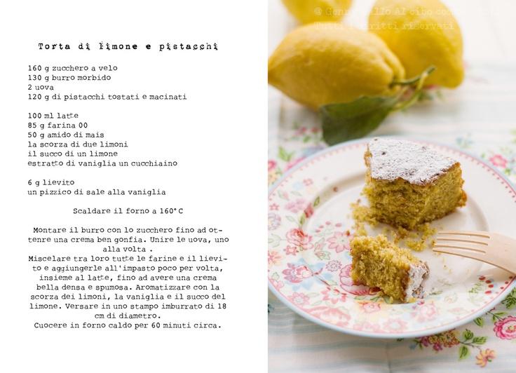 torta di limoni e pistacchi