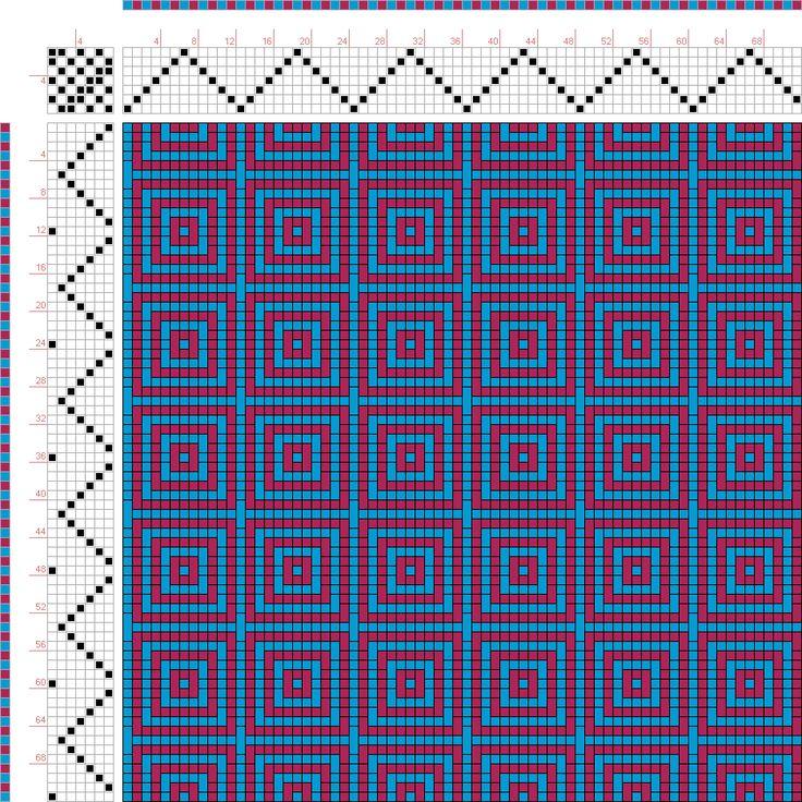 draft image: Figurierte Muster Pl. XXVIII Nr. 6, Die färbige Gewebemusterung, Franz Donat, 7S, 7T