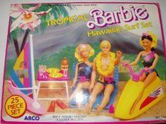 Tropical Barbie Hawaiian Surf Set