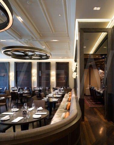 Dinner Heston Blumenthal Restaurant Mandarin Oriental Hotel Tihany Design London 2010 interior view