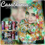 Jilbab cantik segi empat Umama Casablanca motif
