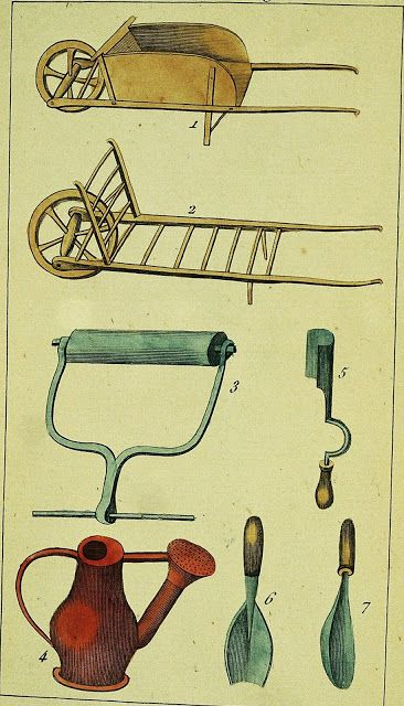 Early american gardens equipment tools gardening for Important gardening tools