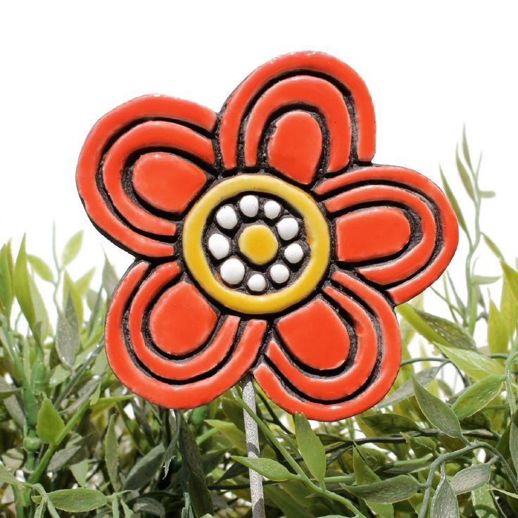 gvega - Ceramic flower garden art - blossom, �15.00 (http://www.gvega.com/ceramic-flower-garden-art-blossom/)