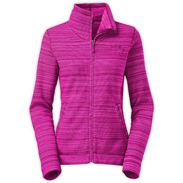 The North Face Women's Crescent Sunset Full Zip Jacket ($85) ❤ liked on Polyvore featuring outerwear, jackets, dramatic plum stria print, the north face and the north face jackets