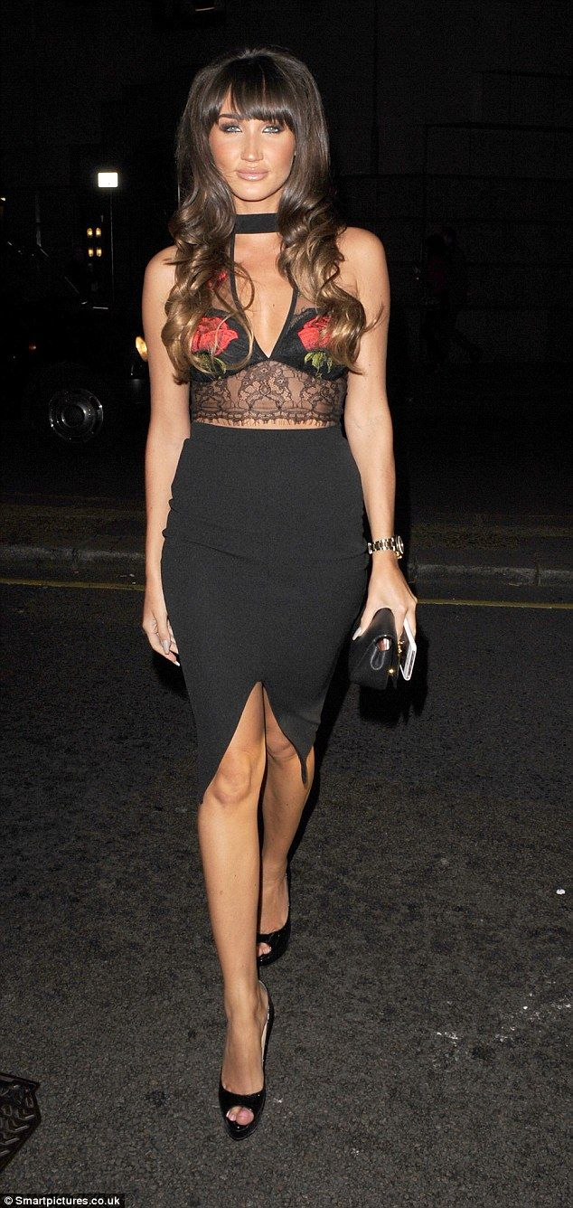 Letting loose: TOWIE's Megan McKenna decided the best way to deal with her love life woes was to hit the town with her pals, enjoying a night out at celebrity hotspot Sexy Fish in London's Mayfair on Saturday