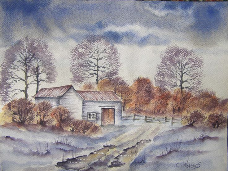 Early Snow 12 x 9 watercolour