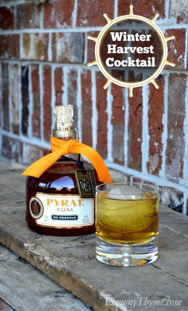 Winter Harvest Cocktail {featuring Pyrat Rum} | LemonyThyme.com | #cocktailrecipes