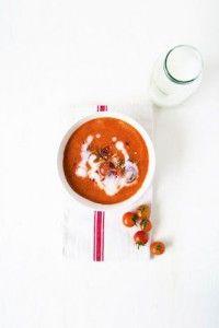 Soupe Tomates Grillées Poivre