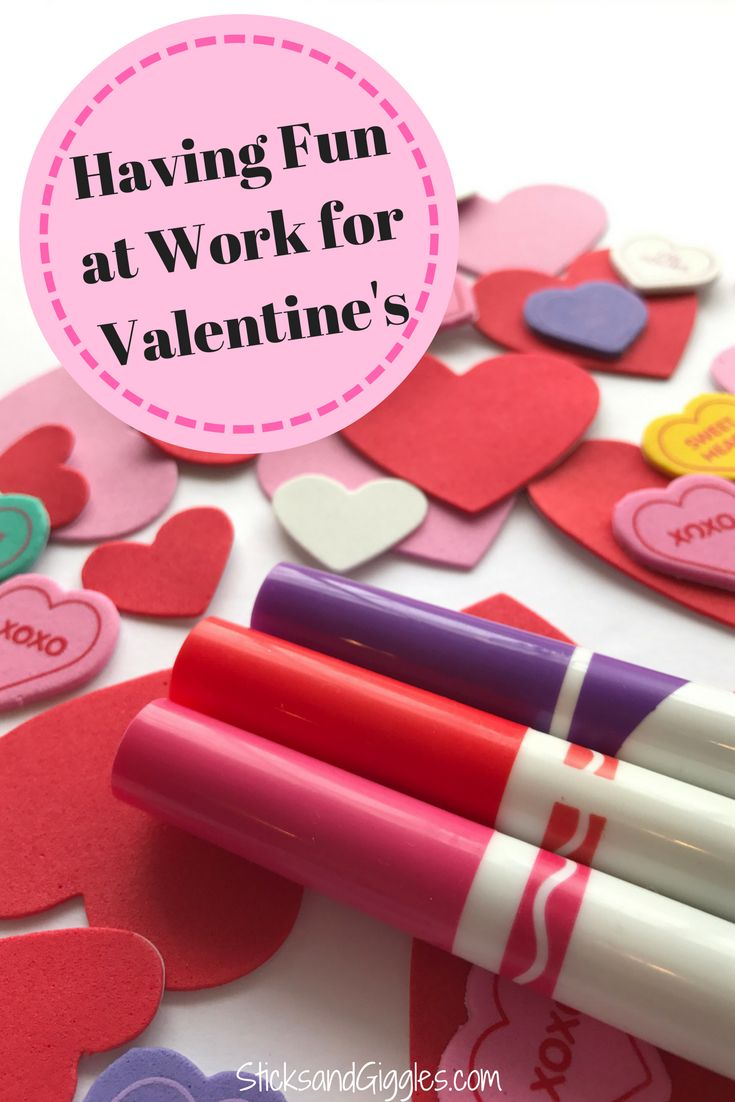 Having fun at work for Valentine's Day, Valentine's Party, Valentine's Craft and DIY