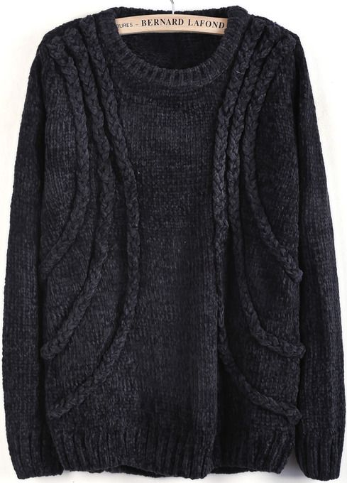 Ce pull _ 30 euros http://www.luvocracy.com/mrs.french/recommendations/grey-long-sleeve-cable-knit-loose-sweater
