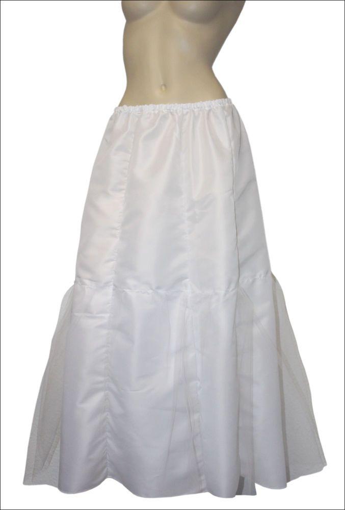 NEU Unterrock lang PETTICOAT 50er 60er Einheitsgröße weiß Polyester