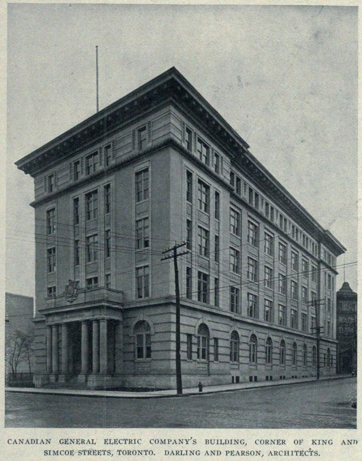 Canadian General Electric Company Building in Toronto, circa 1908