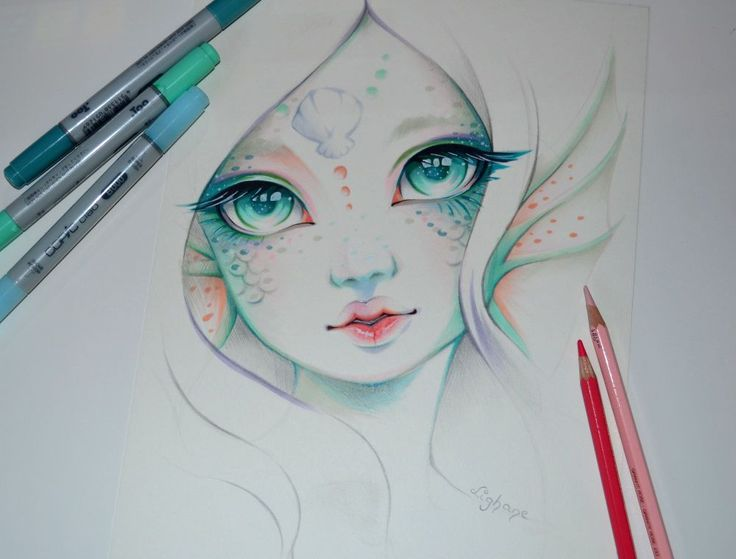My second try next to the Elf girl - Marina the MermaidI like the idea of doing a little series of mythical creatures in this style. Can you think of some more you would like to see?