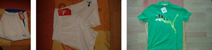 Hallo  biete ein Posten an   Puma #shirt   3 mal Gr. 152  Pum... Hallo, biete ein Posten an:  Puma #shirt   3 mal Gr. 152  Puma Kurze Hosen   kurze Puma Hosen Gr. 140 5 mal   kurze Puma Hosen blaue streifen Gr. 140 2 mal  Adidas Shirts      1 mal gr. 3 xl   1 mal Gr. m     adidas Jersey   1 mal gr. 4 xl   4 mal Gr. xl   http://saar.city/?p=31889