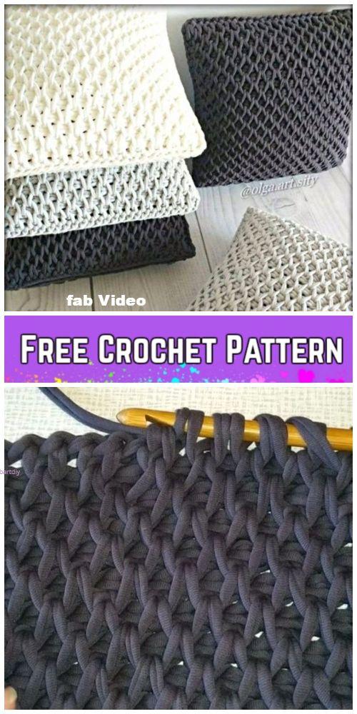 Tunisian Crochet Smock Stitch Free Crochet Pattern - Video | Crochet ...