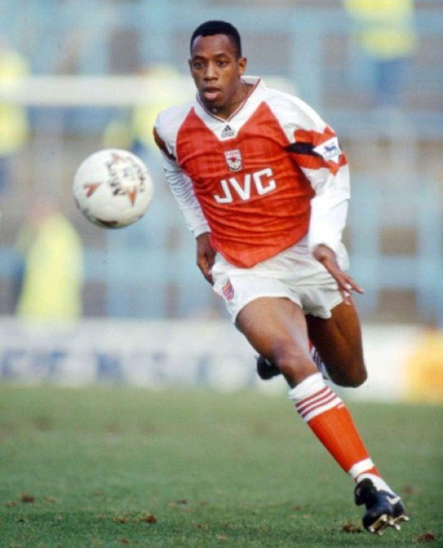 Ian Wright of Arsenal in 1992.