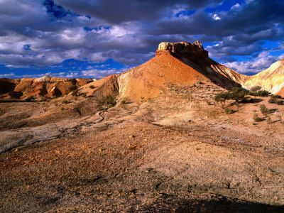 This is apparently around the Coober Pedy area - probably miles away but looks really pretty!
