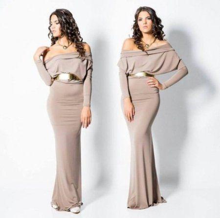 С чем носить бежевое платье? Бежевые платья (фото)