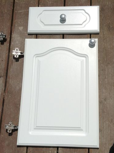 White Howdens Cathedral Style Kitchen Cabinet Doors Drawer Fronts Bathroom Ideas In