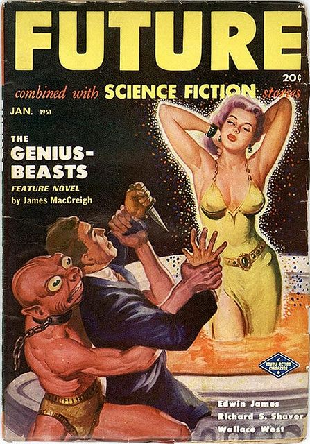 Future Science Fiction, Pulp Magazine - 1951 Jan by kocojim, via Flickr