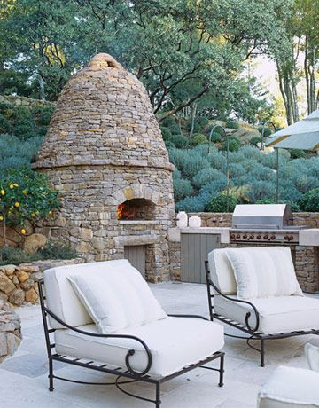 An Outdoor Kitchen/Patio, where the Beehive Oven takes center stage...Oh, Just imagine the Pizza Parties I could have.