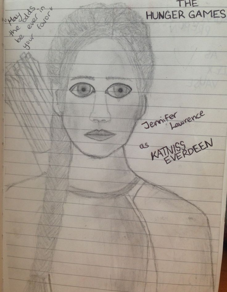 Katniss Everdeen <3 ... my attempt to draw her