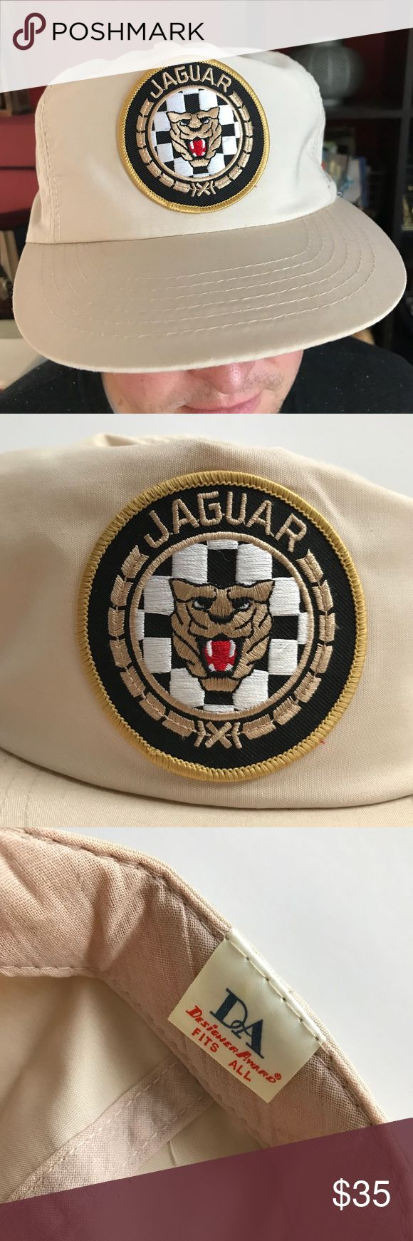 💎Vintage Jaguar Car Trucker SnapBack Hat Vintage Jaguar Car hat for a Jaguar lover! Small amount of yellowing on underside of brim, see photo. Small blemish (can be dry cleaned) see photo. Otherwise in pristine condition. Mesh forehead underneath, fits all sizes. Comps sell for between $30-$50. Snag this awesome collectible for your Jaguar lover! All offers welcomed and greatly considered! Vintage Accessories Hats