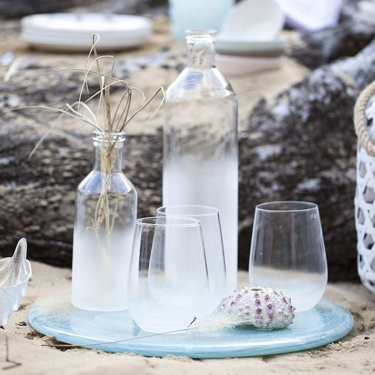 Frosted bottles and glasses - The Tara Dennis Store