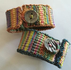 I want to weave (and wear) like a hundred of these cuffs!