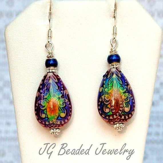 Color Changing Mood Earrings Mood Bead Earrings by JGBeadedJewelry