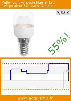 Müller Licht Ampoule Mueller Led Refrigerateur E14 0.6W Chaude (Divers). Réduction de 55%! Prix actuel 9,85 €, l'ancien prix était de 21,69 €. http://www.adquisitio.fr/m%C3%BCller-licht/ampoule-mueller-led
