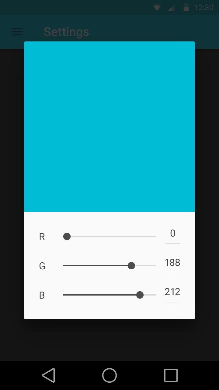 Matieral App RGB Color Sliders | Flat User Interface #UI Design