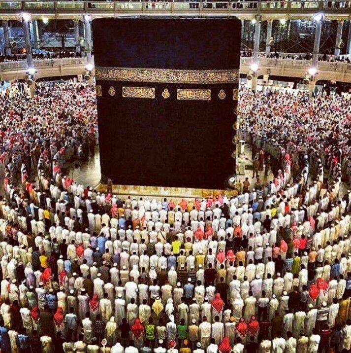 Standing around kabah for salah   Mosques   Pinterest