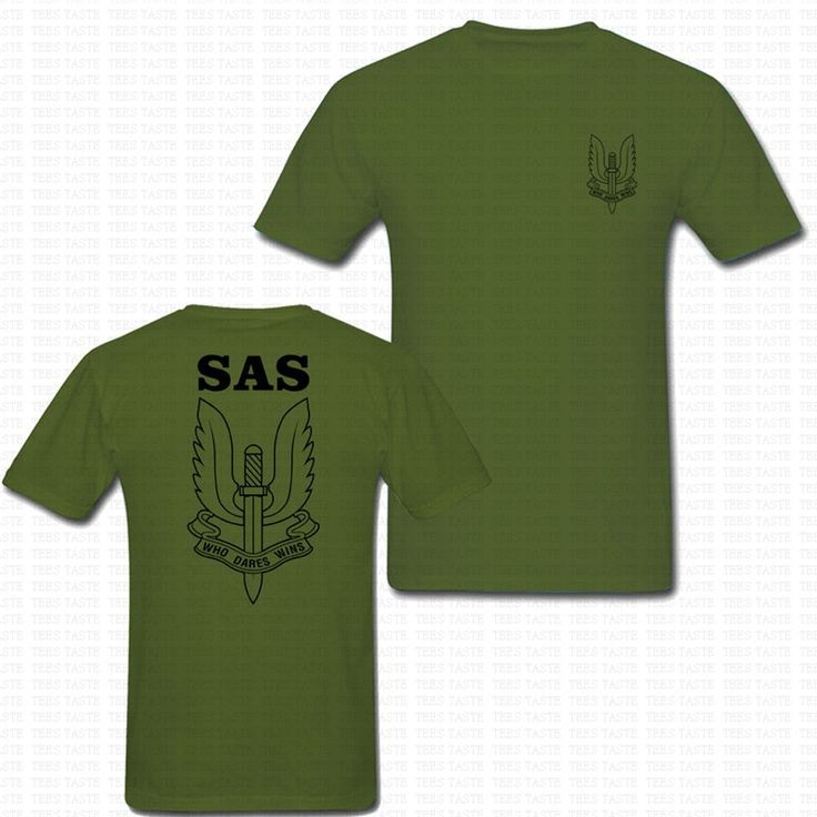 SAS T-SHIRT SPECIAL AIR SERVICE WHO DARES WINS 100% COTTON BRITISH ARMY MILITARY O NECK MENS TSHIRT BRAND CLOTHING POLICE TEES #Affiliate