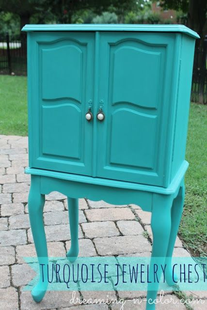dreamingincolor: Turquoise Jewelry Chest