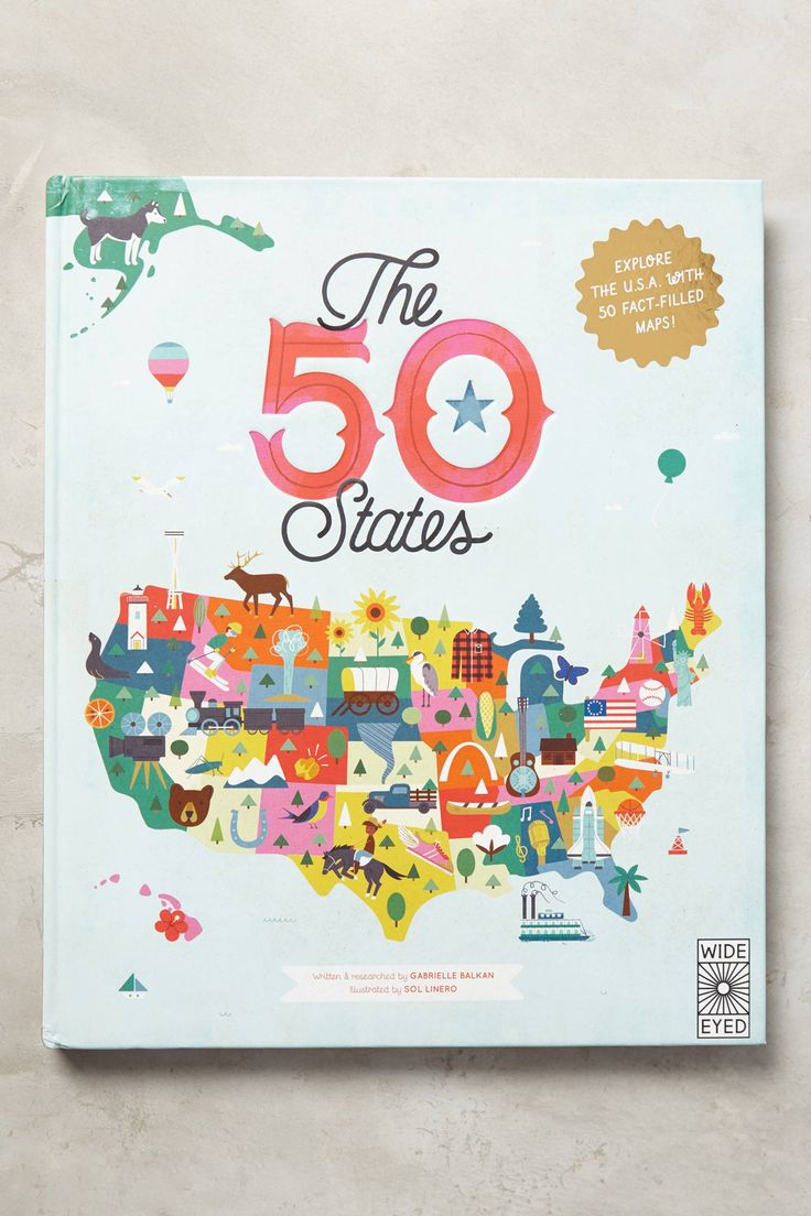 The 50 States | Pinned by topista.com