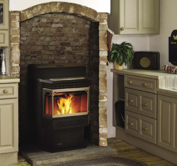 A pellet stove easily converts your existing, drafty, masonry fireplace  into an efficient, reliable heating source. - 55 Best Fireplace/pellet Stove Images On Pinterest Fireplace
