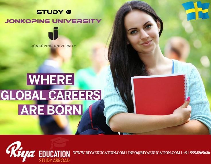 Study at Jonkoping University, Sweden.  For more details get in touch with Riya Education. Visit our website http://www.riyaeducation.com/contact/