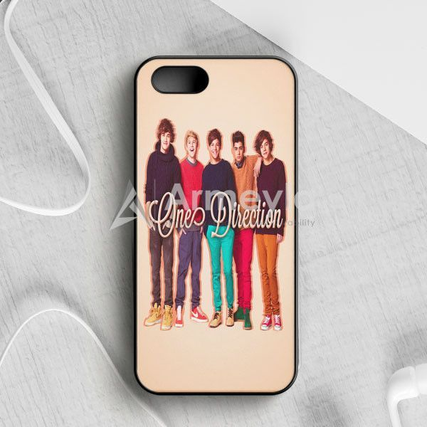 1D One Direction Logo Pink Flower iPhone 5|5S|SE Case | armeyla.com