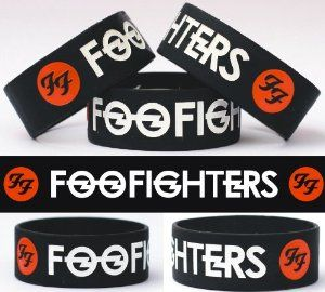 Foo Fighters One Inch Silicone Wristband SayitBands.com. $8.88. Debossed and color filled for high contrast text. High quality silicone wristband. Wide one inch width really stands out. Standard 8 inch size fits most teenagers to adults. Show you're a fan fashionably. Save 41%!