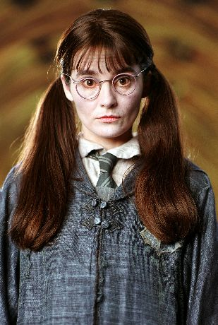 """Myrtle (b. 1929 – 13 June, 1943), more commonly known as """"Moaning Myrtle"""", was a Muggle-born witch who attended Hogwarts School of Witchcraft and Wizardry from 1940 – 1943 and was sorted into Ravenclaw house. She was killed in 1943 by Salazar Slytherin's Basilisk, under Lord Voldemort's (Tom Riddle) orders. Now, she is a ghost who haunts the first-floor girls' bathroom (and occasionally other bathroom facilities) at Hogwarts. - Harry Potter Wiki"""