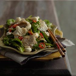Fat-loss pickled asian mushroom salad