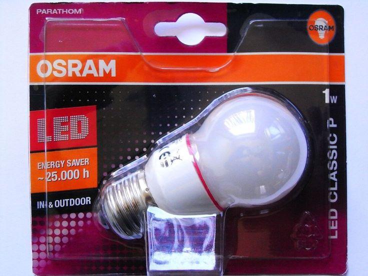 Osram Parathom Tropfen LED Classic P Lichtfarbe Rot E27  1 Watt IN-&OUTDOOR